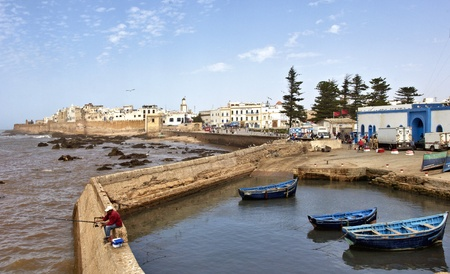 ESSAOUIRA, MOROCCO-AUGUST, 27: Essaouira harbor, Morocco, august 27, 2011.