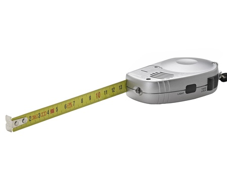 tape measure isolated on white background Stock Photo - 12414051