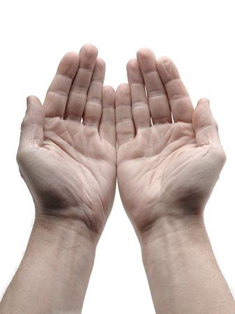 manos abiertas: Dos mano abierta aislados en blanco