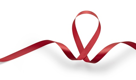 hiv aids: Aids awareness red ribbon