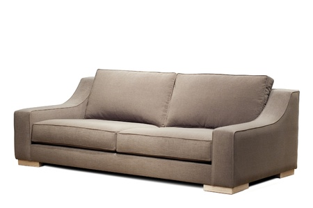 couch: modern sofa on white background Stock Photo