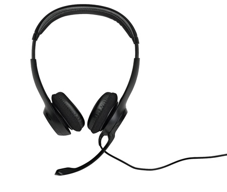 Audio headset with a micro (clippin path ) photo