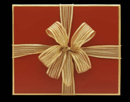 Red gift box with golden node Stock Photo - 12414297