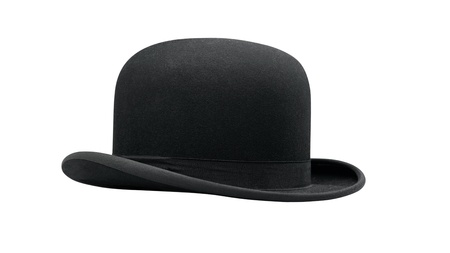 a bowler hat isolated on a white background photo