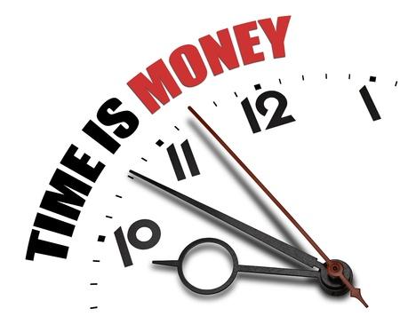 Sober tijd is geld concept
