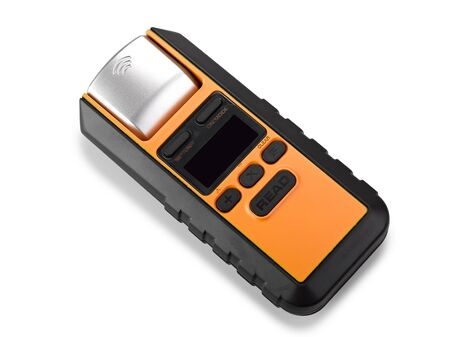 laser measuring instrument on white with clipping path photo
