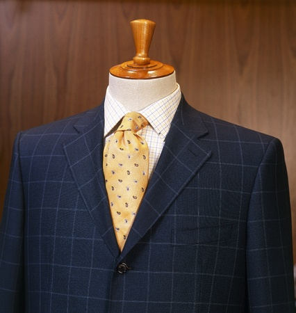 Closeup shot of business suit on a mannequin