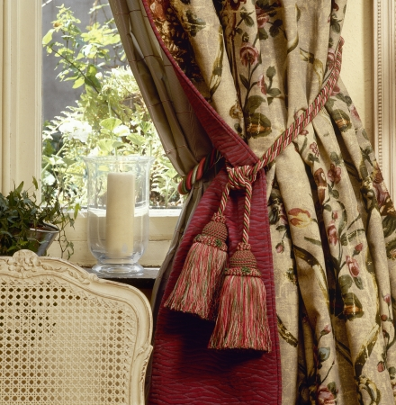 Elegant curtain and window photo