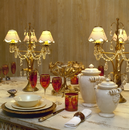 A decorated dining table
