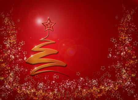 Modern abstract christmas tree background, Stock Photo - 16432217
