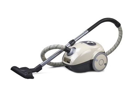 Vacuum cleaner isolated on the white background   Zdjęcie Seryjne