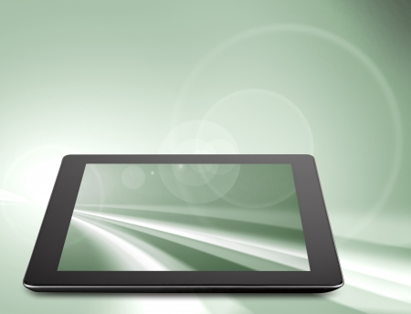 Tablet computer (tablet pc) . Modern portable touch pad device  photo