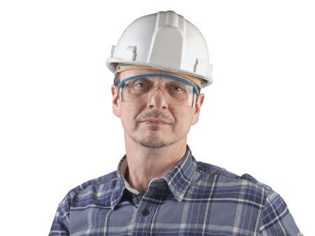 Portrait of a technician isolated Stock Photo - 17205346