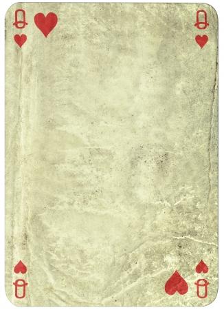 vintage einfachen Hintergrund-Spielkarte - Königin der Herzen Lizenzfreie Bilder