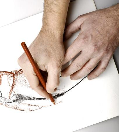 pencil sketch: Drawning hands