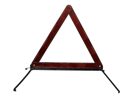 Highway Safety Triangle on white background photo