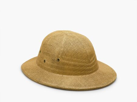 pith: pith helmet isolated on white Stock Photo