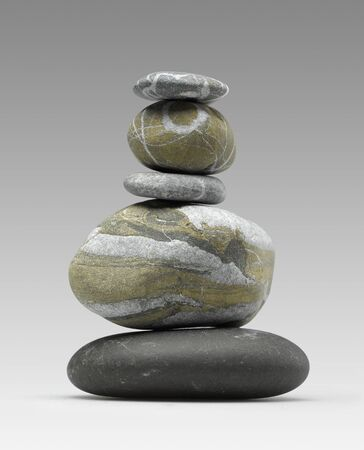 Pile of pebbles - zen look photo