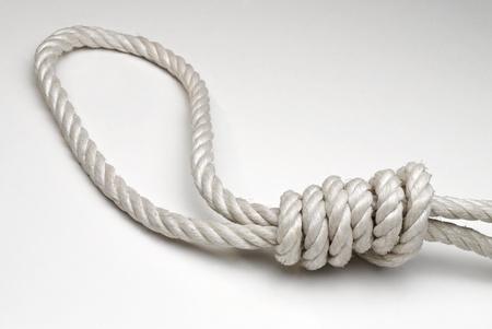 ahorcado: Cuerda con verdugo Foto de archivo