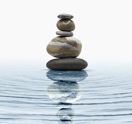 zen stone: Zen stones in water