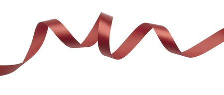 red ribbon on white background Stock Photo - 17364041
