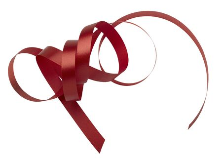 red ribbon on white background Stock Photo - 17363987