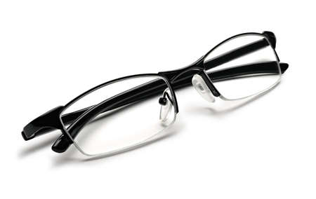 gafas de lectura: gafas de lectura aislados en blanco Foto de archivo