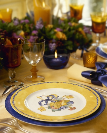 A decorated christmas dining table  photo