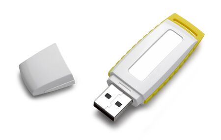 mb: Usb flash memory isolated on the white background with Clipping Path. High Quality XXXL Stock Photo