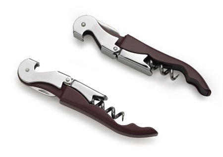 corkscrew isolated on a white background. Studio photo (clipping path) Stock Photo - 17364073