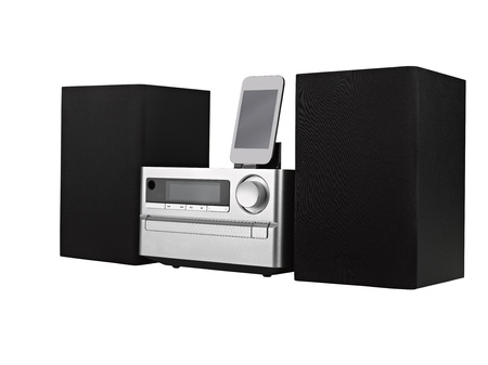 digital usb, cd player and mp3 against the white background photo