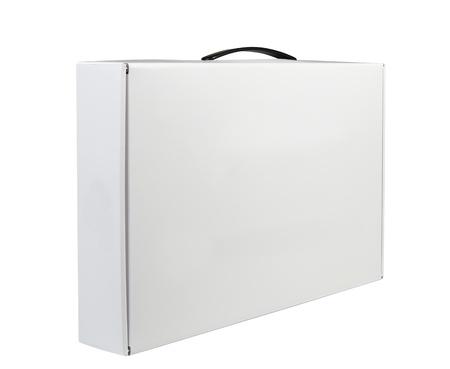 ハンドル ブリーフケース、ケース、フォルダー、ポートフォリオ ケース ホワイト バック グラウンド準備ができてあなたの設計のために分離で白い