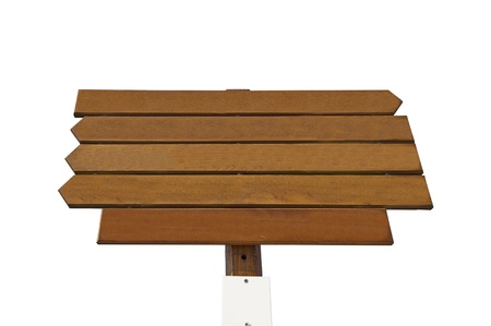 empty wooden sign on white background photo