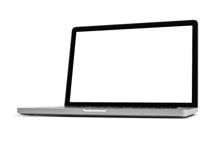 Laptop isolated on white, clipping path included photo