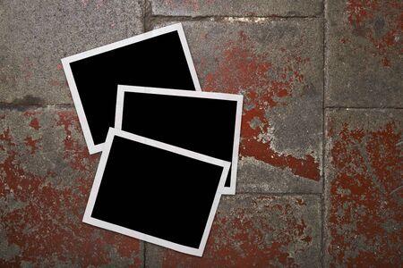 Blank photo frames on grunge background Stock Photo - 18280276