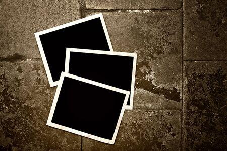 Blank photo frames on grunge background Stock Photo - 18280277