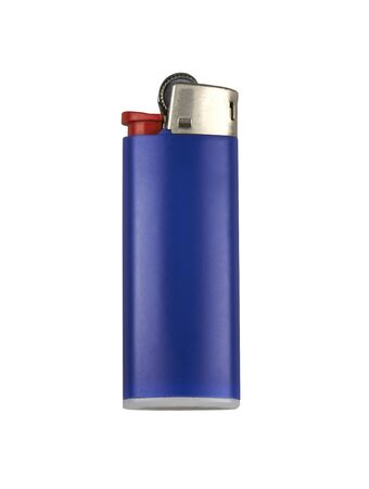 Blue cigarette lighter. Isolated on white. Stock Photo - 18596191