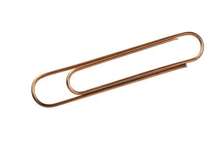 Paper clip on a white background Stock Photo - 18595702