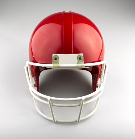 football helmet: Red American football helmet Stock Photo