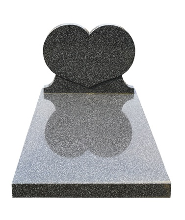 Einzel Grabstein ausgeschnitten (Clipping-Pfad)