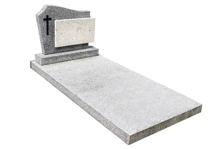 single grave stone cut out (Clipping path) photo