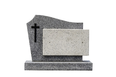 single grave stone cut out (Clipping path)