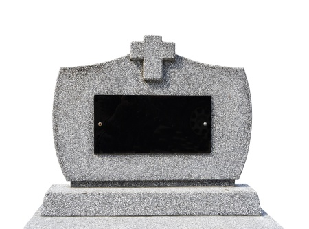 Blank gravestone Iisolated   clipping path   Stock Photo
