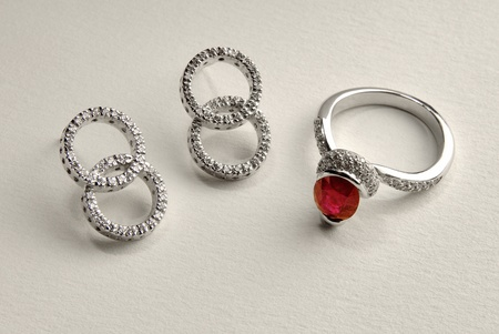 Ruby ring and earring photo