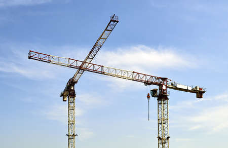 Construction Cranes Stock Photo - 19376082