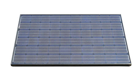 Photovoltaic solar panels isolated, clipping path Stock Photo - 19502775