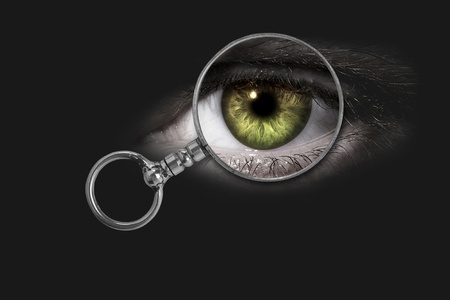Magnifying glass, eye Stock Photo - 19927038