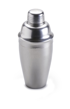 martini shaker: Cocktail shaker. Isolated on white background - clipping path