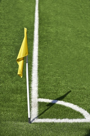 Corner flag on a soccer field Stock Photo - 21091241
