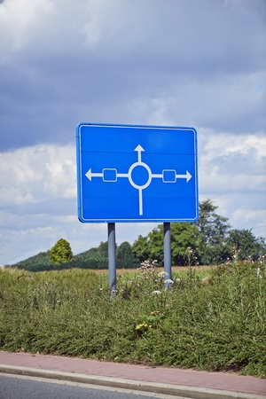 pannel: Roadsign - put your text on blue pannel